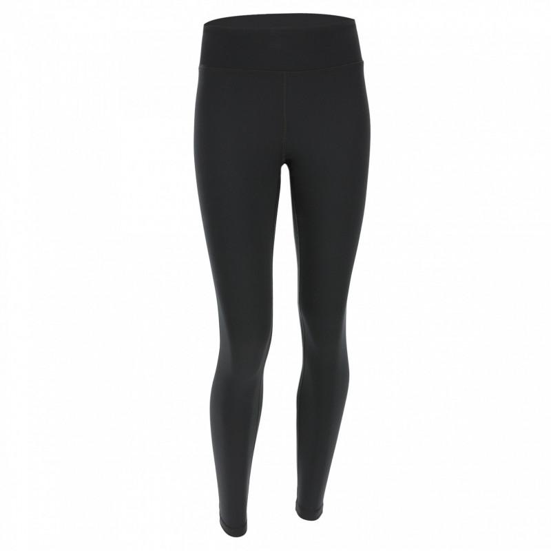 WR.UP® Denim - Spodnie Skinny 7/8 z niskim stanem w kolorze czarnym z żółtymi szwami
