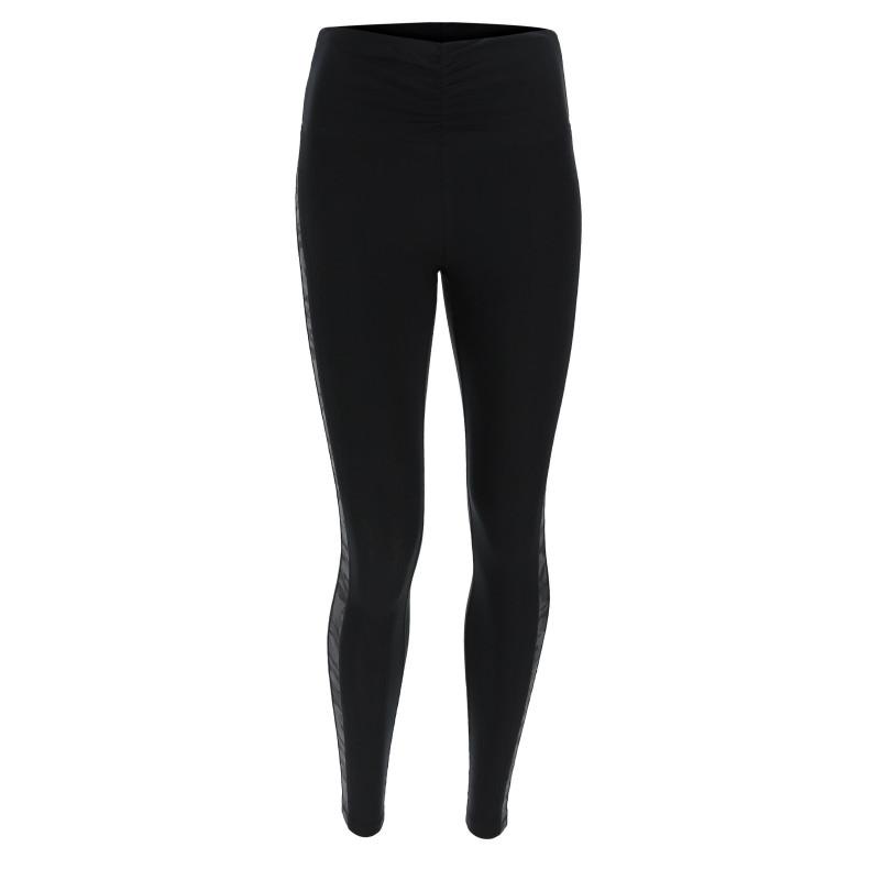 Leggings SUPERFIT - Regular Waist - 7/8 - Materiał imitujący skórę - Oddychające wstawki z nylonowej siatki - Odblask