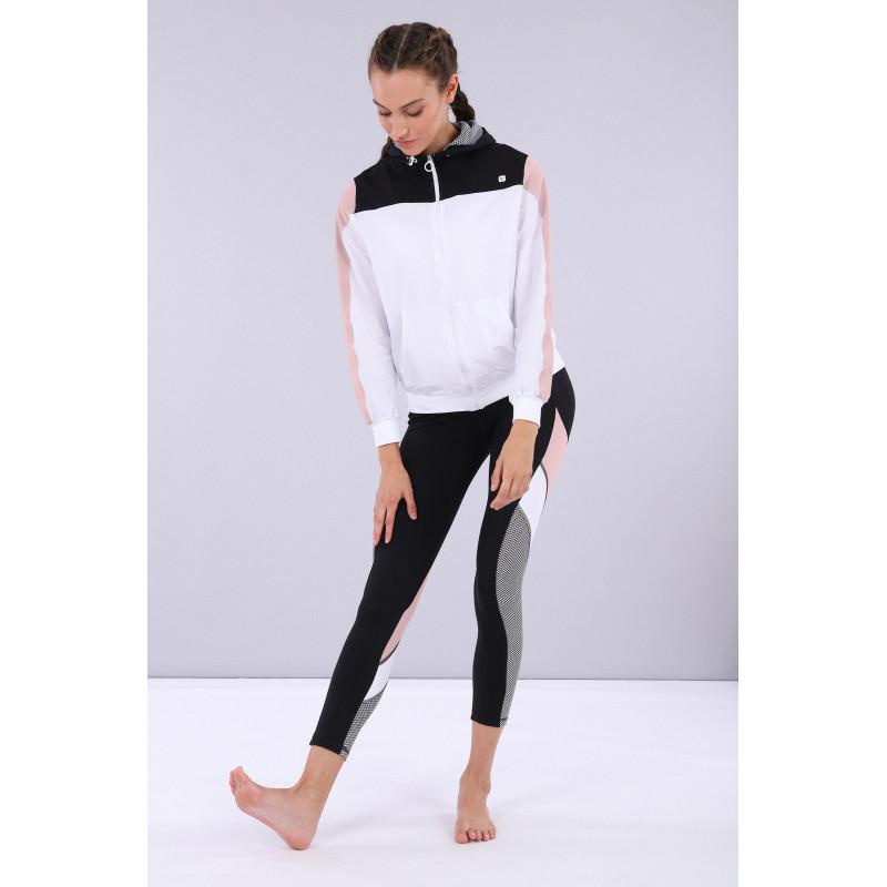 WR.UP® - Spodnie Skinny z regularnym stanem w kolorze szarym z efektem marmuru