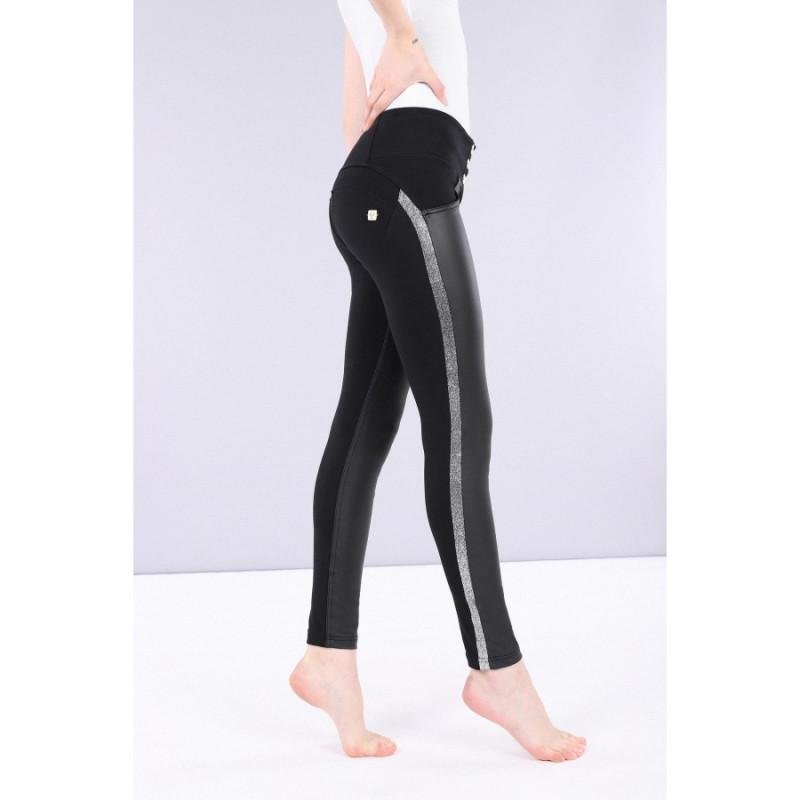 WR.UP® Specials - Skinny ze średnim stanem - z wstawką z ekoskóry - N0