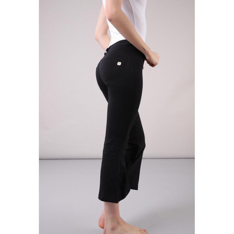 WR.UP® Denim - Spodnie Skinny z regularnym stanem w kolorze spranej szarości z czarnymi szwami