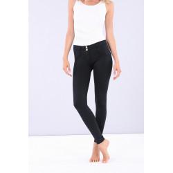 WR.UP® Denim - Spodnie Skinny z regularnym stanem w kolorze szarym i żółtymi szwami