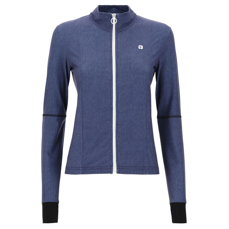 Yoga Sweatshirt - aus Stretch-Denim - Made in Italy - Dark Denim - Black - J0N0