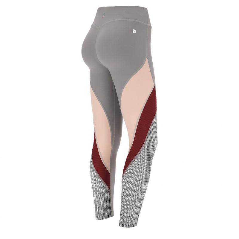 WR.UP® Sport D.I.W.O. ® - Legginsy w kolorze czarnym z czerwonymi wstawkami
