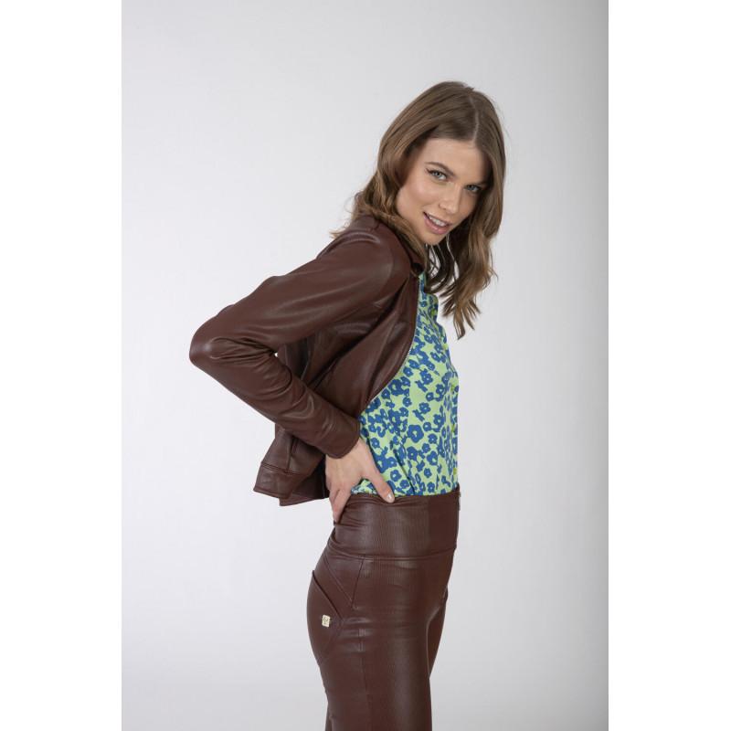 WR.UP® Denim - Spodnie Skinny z regularnym stanem w kolorze ciemnoniebieskim z żółtymi szwami