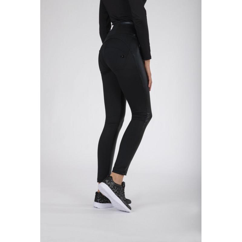 WR.UP® Denim - Spodnie Skinny z regularnym stanem w kolorze jasnoniebieskim z żółtymi szwami