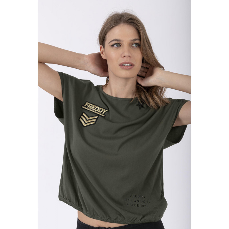 Koszulka - z militarnym motywem - V320