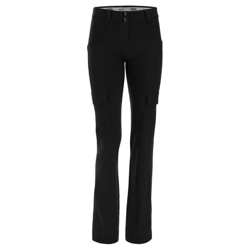 WR.UP® - Spodnie Skinny ze średnim stanem w kolorze granatowym