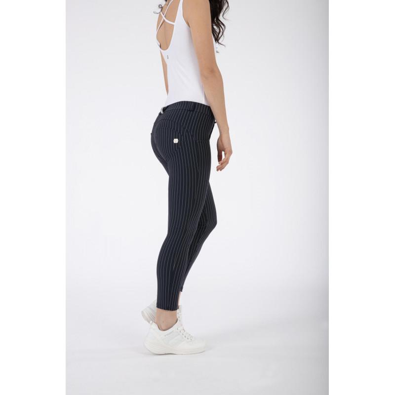 WR.UP® - Spodnie Skinny z regularnym stanem w kolorze granatowym