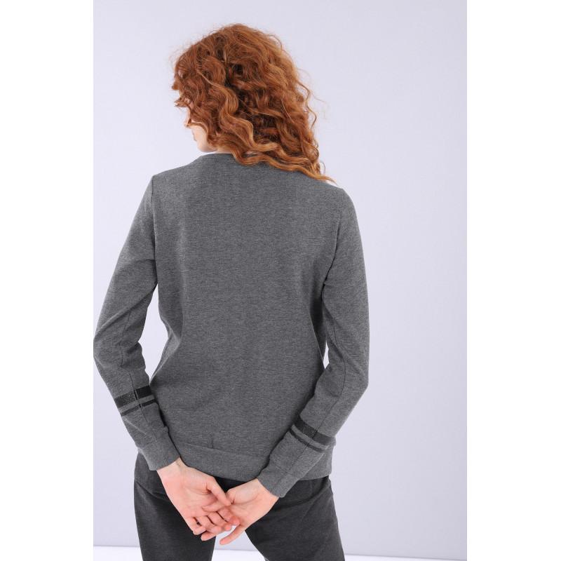 WR.UP® Denim - Spodnie Skinny z wysokim stanem w kolorze ciemnoniebieskim z żółtymi szwami
