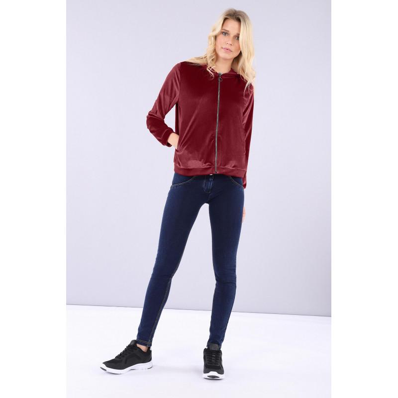 WR.UP® - Spodnie Skinny Made in Italy z regularnym stanem w kolorze szarym