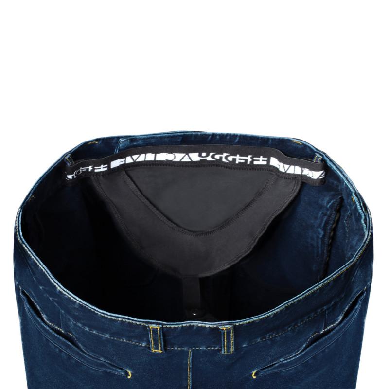 WR.UP® - Spodnie z regularnym stanem w kolorze czarnym z motywem marmuru