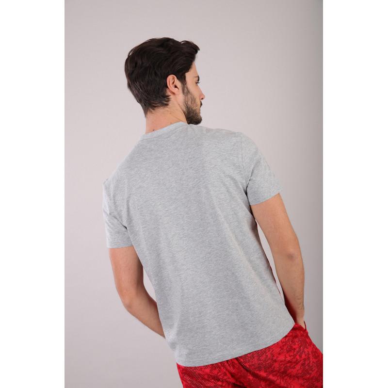 WR.UP® - Spodnie Skinny z regularnym stanem w kolorze granatowym z motywem marmuru