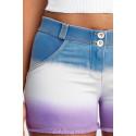 WR.UP® Denim - Spodnie Skinny z regularnym stanem w kolorze niebieskim z efektem zużycia