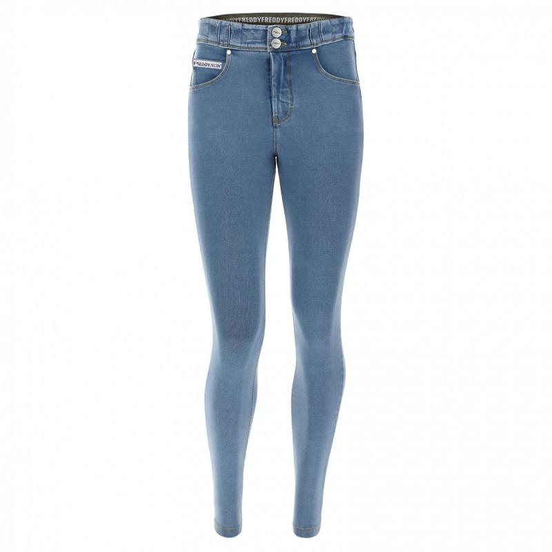 N.O.W.® Pants Denim - Skinny ze średnim stanem - Jasnoniebieski - J4Y