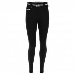 Leggings SUPERFIT - 7/8 - Melange Black - Fuchsia Red - N26QF