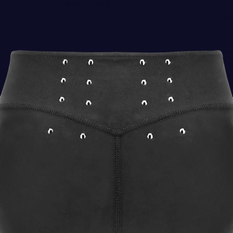 WR.UP® - Spodnie Super Skinny z regularnym stanem w kolorze srebrny metalik