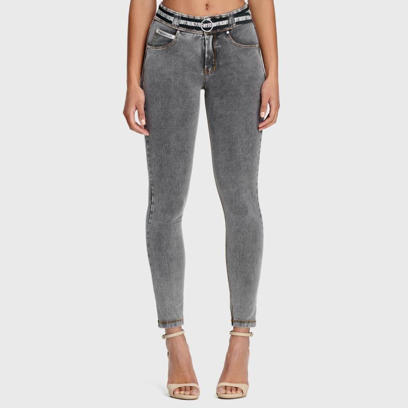 N.O.W.® Pants Denim - Skinny ze średnim stanem - Szary - J3Y