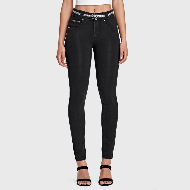 N.O.W.® Pants Denim - Skinny ze średnim stanem - Czarny - J7N