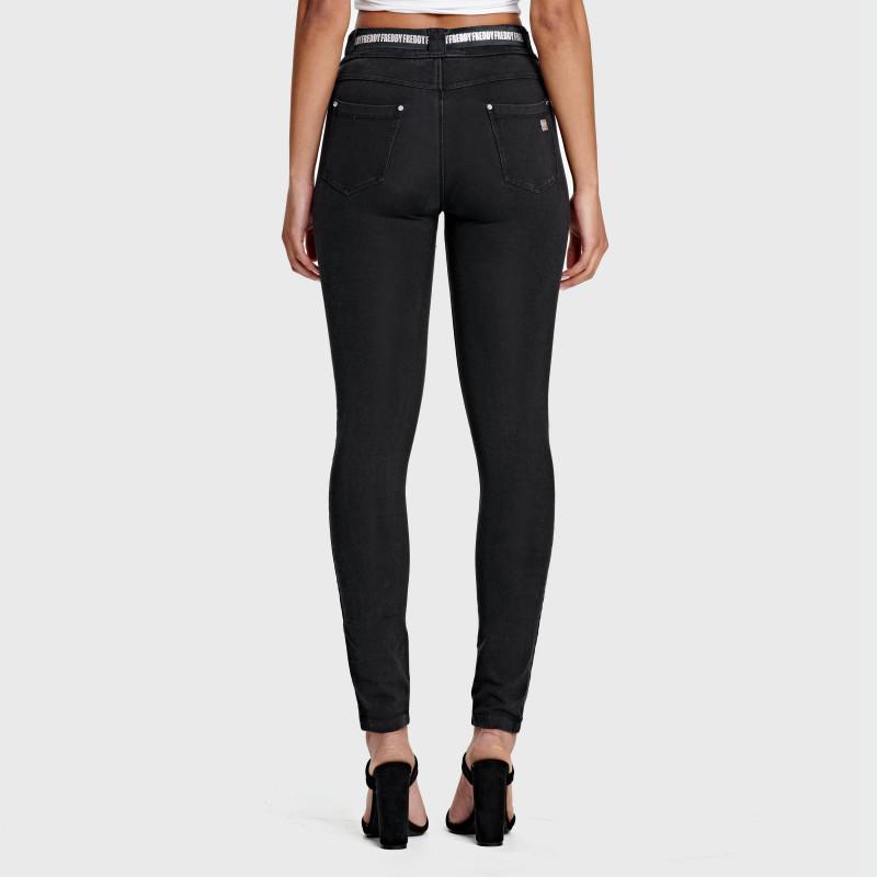 WR.UP® Curvy - Spodnie Skinny z regularnym stanem w kolorze jasnoszarym
