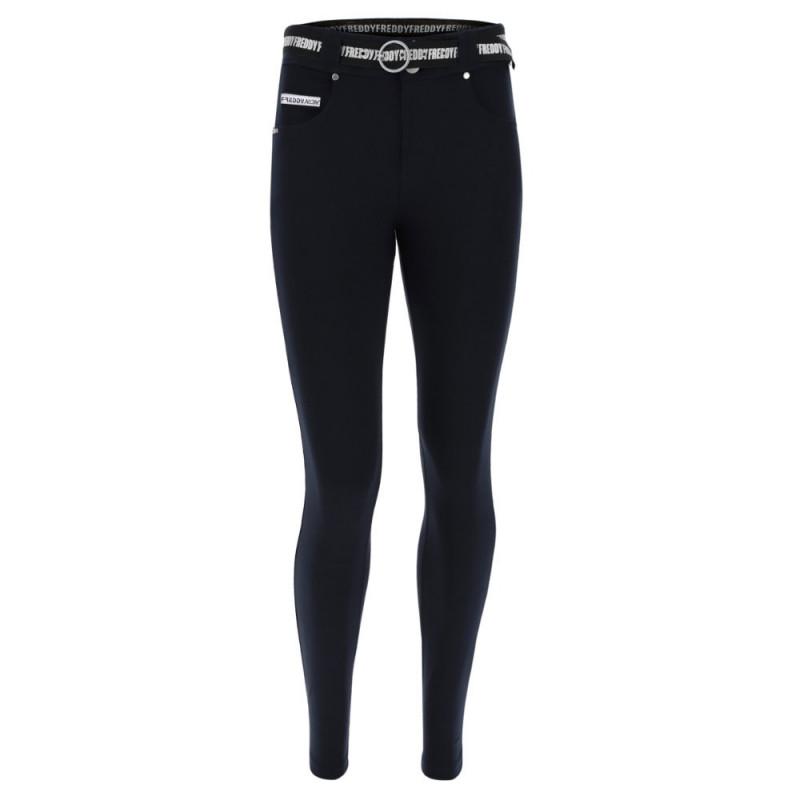 N.O.W.® Pants Classic - Skinny ze średnim stanem - Granatowy - B940