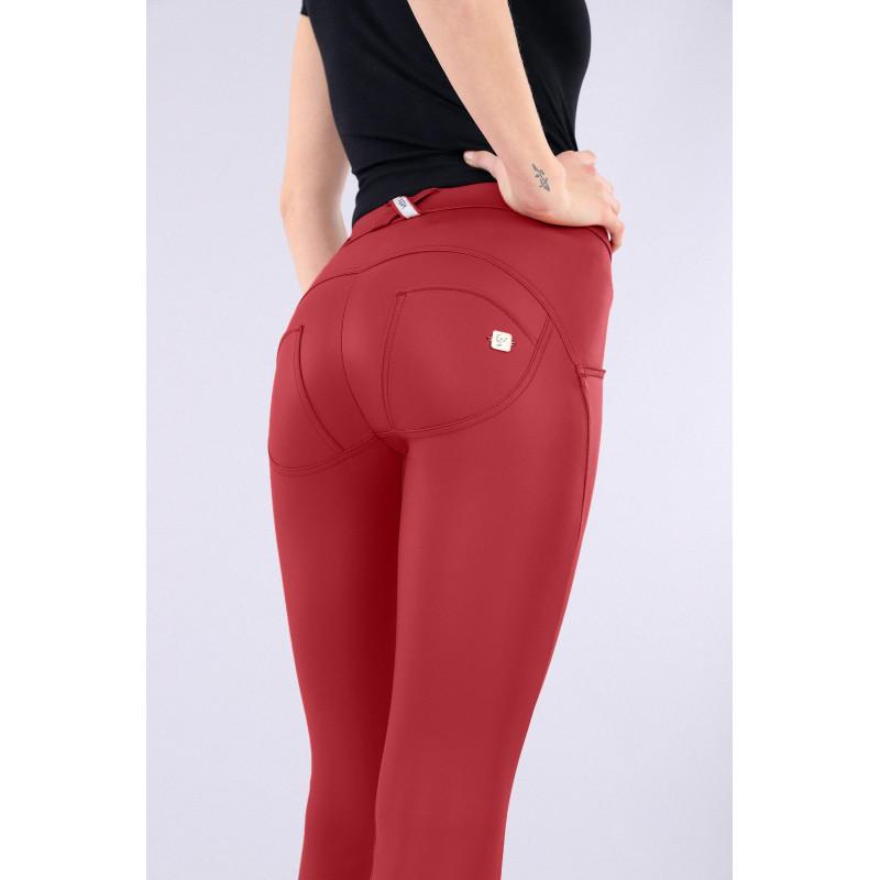 WR.UP® - Spodnie Super Skinny z regularnym stanem w kolorze czarnym z szenilu