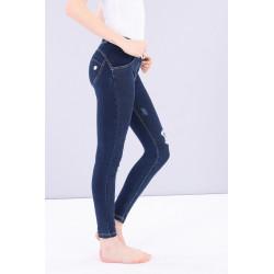 WR.UP® Spodnie Jeans - Low Waist Skinny - Ciemny Jeans - J0Y