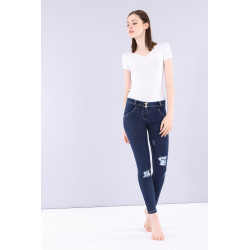 WR.UP® Spodnie Jeans - Low Waist Skinny - Blue - J0B