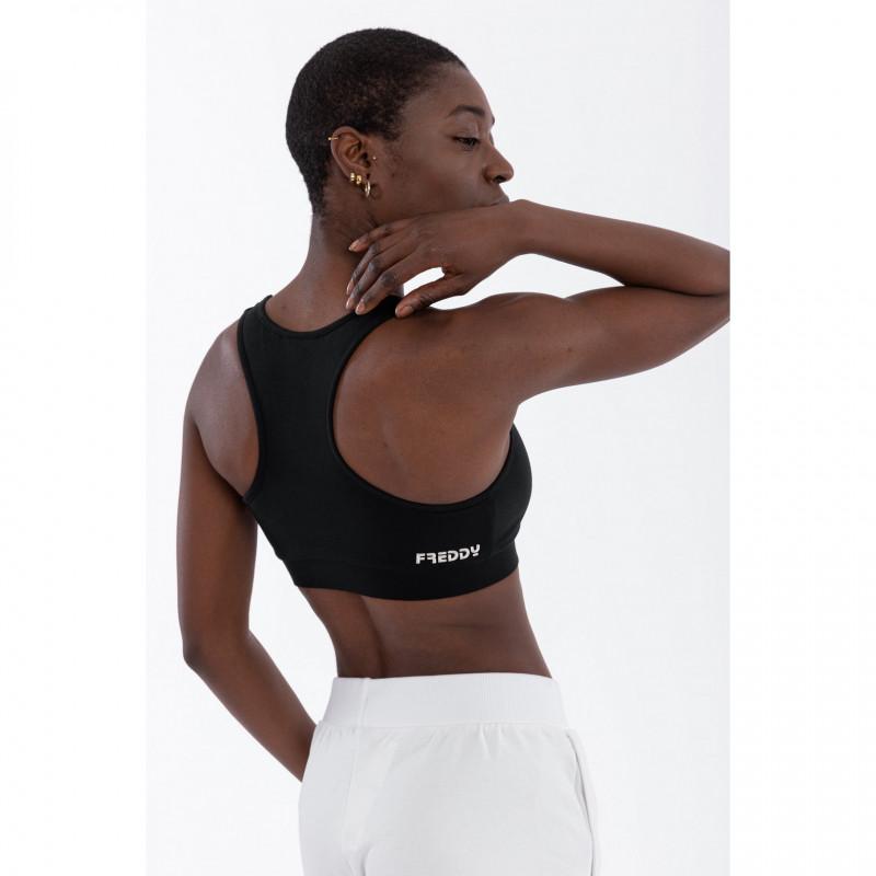 WR.UP® Denim - Spodnie Super Skinny z regularnym stanem w kolorze czarnym z czarnymi szwami