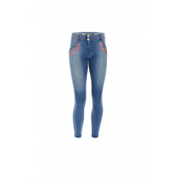 WR.UP® Ecoleder - Regular Waist Skinny - Deep Claret Red - R680