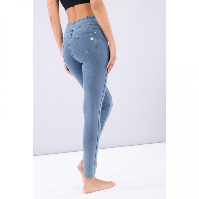 N.O.W.® Yoga Denim - Skinny z podwijanym pasem - Jasnoniebieski - J4Y