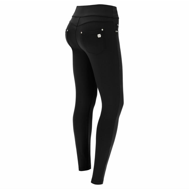 N.O.W.® D.I.W.O.® Pro Yoga - Spodnie Skinny z podwijanym pasem - Czarny - N0