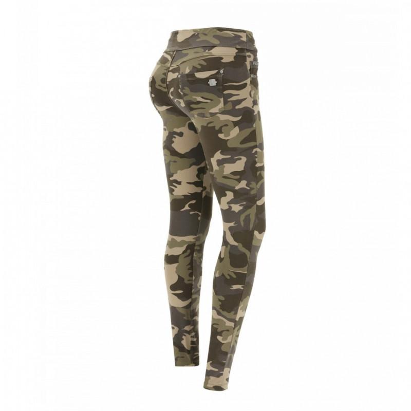 N.O.W.® Yoga - Spodnie Skinny z podwijanym pasem - Moro - M95M