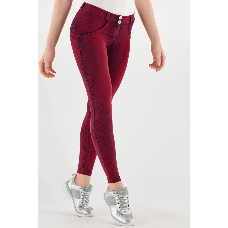 WR.UP® Denim - 7/8 Super Skinny z regularnym stanem - z efektem marmuru - J52R