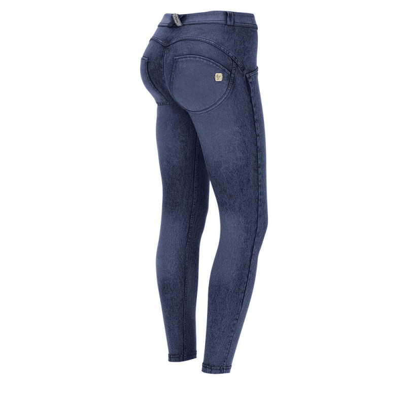 WR.UP® Denim - 7/8 Super Skinny z regularnym stanem - z efektem marmuru - J53B