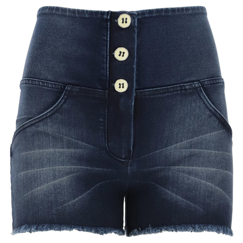 WR.UP® - Spodnie Skinny z regularnym stanem w kolorze czarnym z szenilu