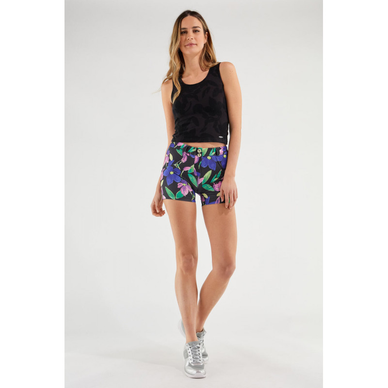 WR.UP® - Spodnie Super Skinny z wysokim stanem w czarno-białą kratę