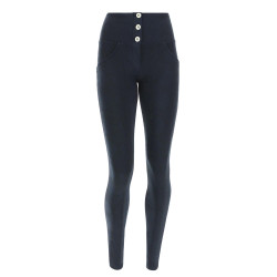 WR.UP® - Spodnie Super Skinny z regularnym stanem w kolorze morskim