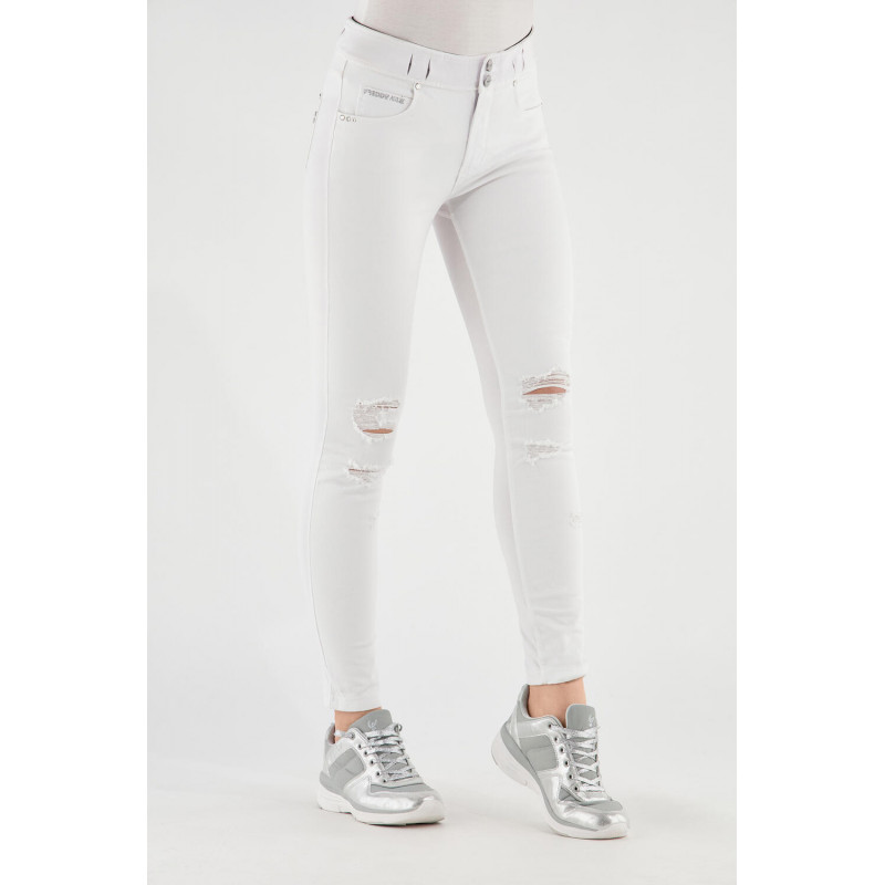 N.O.W.® Pants - Skinny ze średnim stanem - z przetarciami - W0