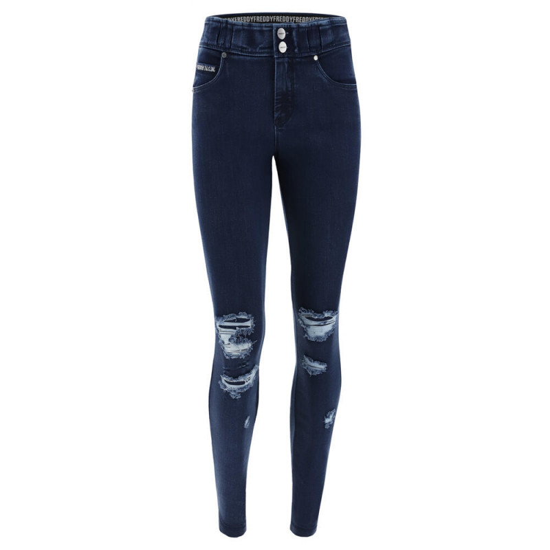 N.O.W.® Pants - Skinny ze średnim stanem - z przetarciami - J0B