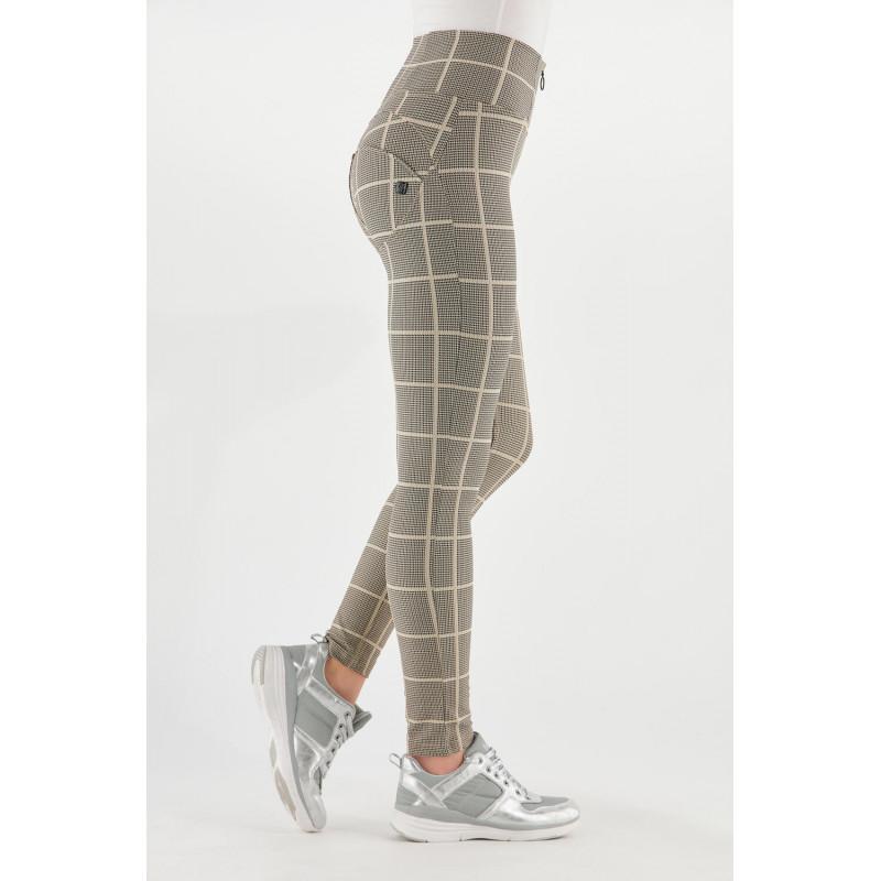 WR.UP® Sport - Legginsy Made in Italy w kolorze szaro-czarnym