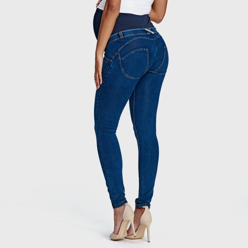N.O.W.® Pants - Spodnie Straight ze średnim stanem w kolorze niebieskim