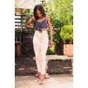 N.O.W.® - Spodnie Skinny ze średnim stanem w kolorze niebieskim