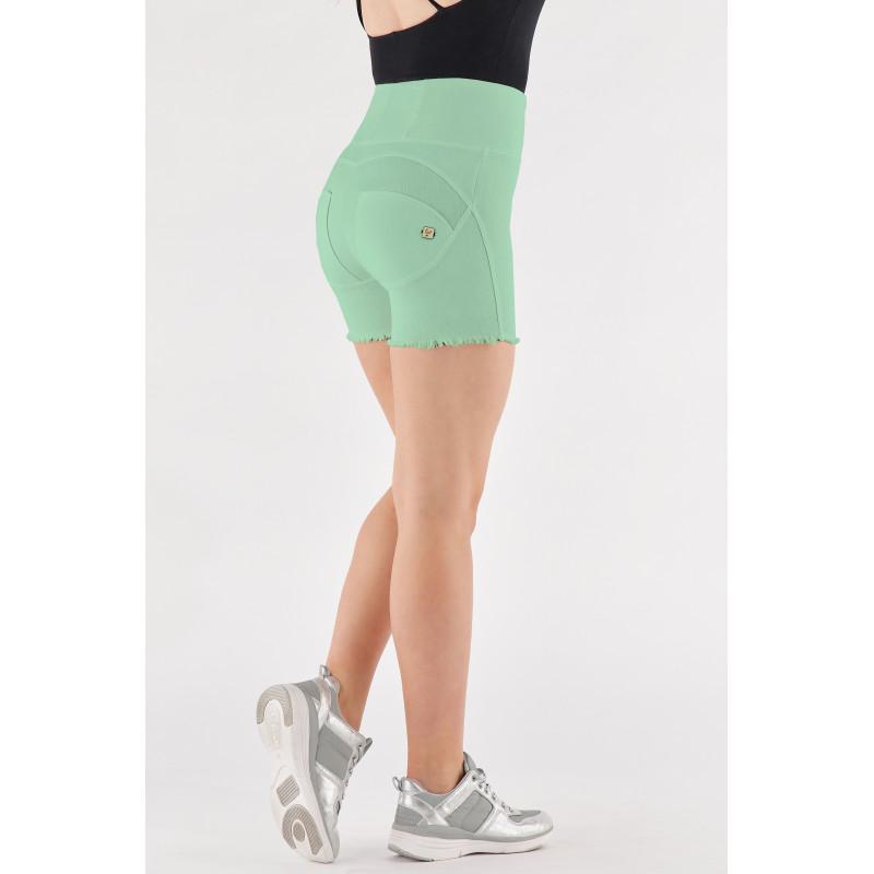 N.O.W.® Yoga - Spodnie Skinny z podwijanym pasem w kolorze niebieskim