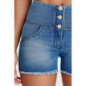 WR.UP® - Spodnie Super Skinny z regularnym stanem w kolorze morskim o długości 7/8