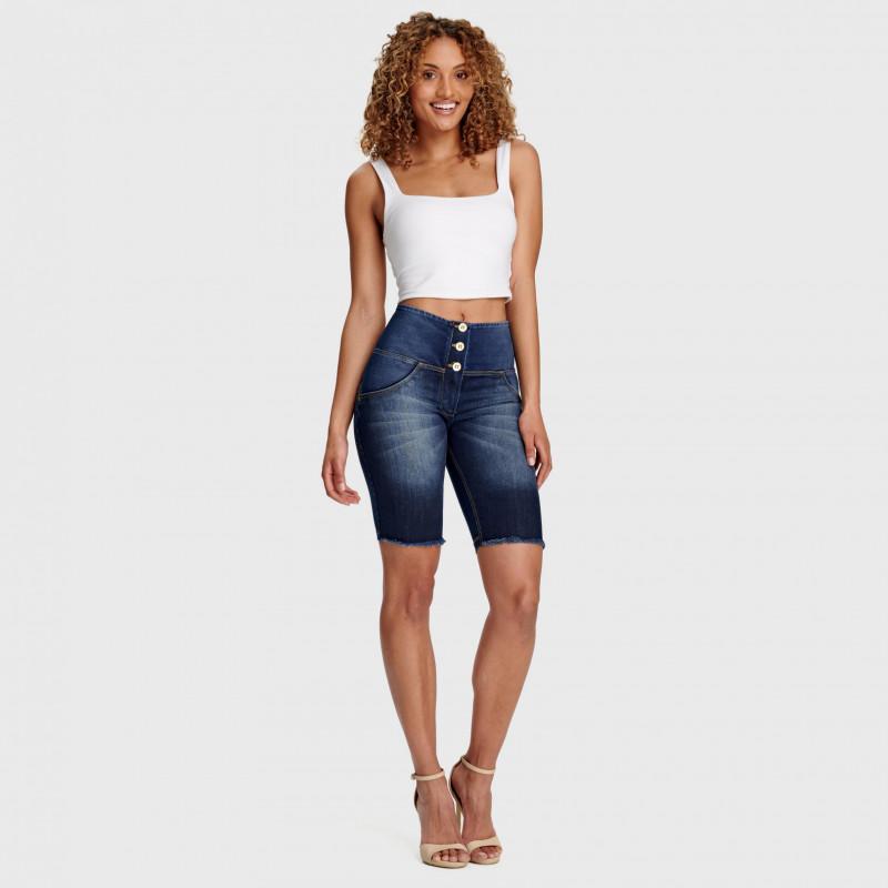 WR.UP® - Spodnie Skinny ze średnim stanem w kolorze czarnym z motywem kwiatowym