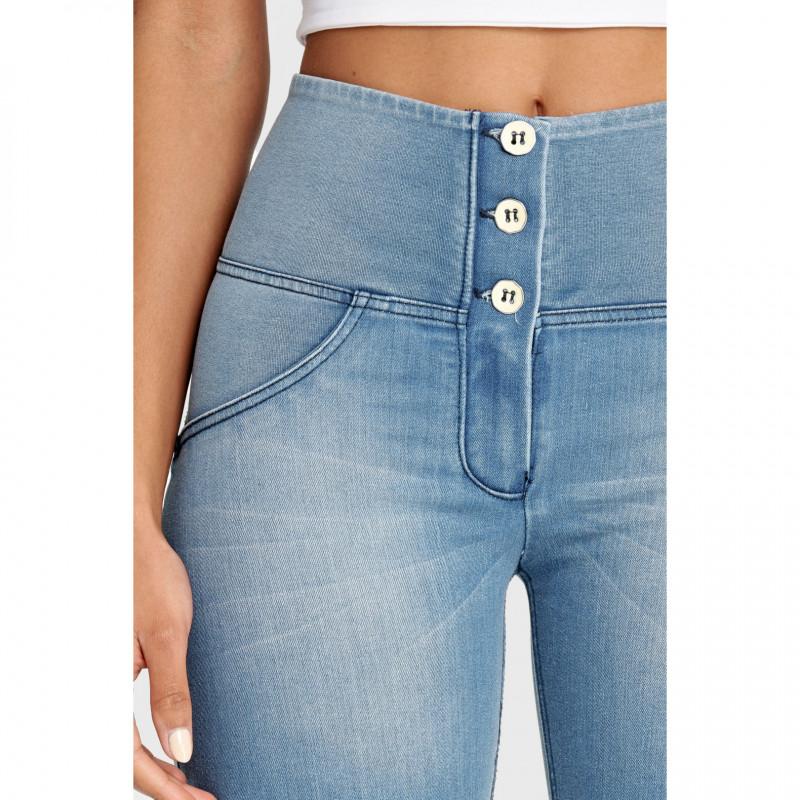 WR.UP® - Spodnie Super Skinny z regularnym stanem w kolorze tureckiej kawy o długości 7/8