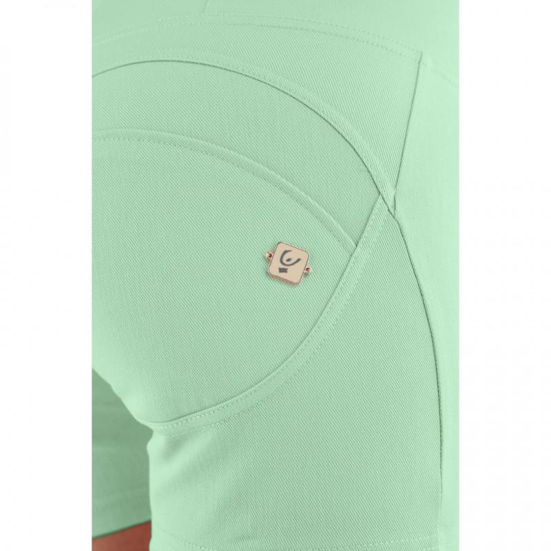 WR.UP® Denim - Spodnie Skinny z regularnym stanem w kolorze ciemnoniebieskim z niebieskimi szwami