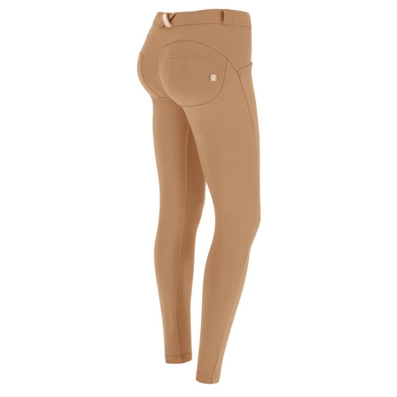 WR.UP® Denim - Spodnie Skinny z niskim stanem w kolorze ciemnoniebieskim z niebieskimi szwami