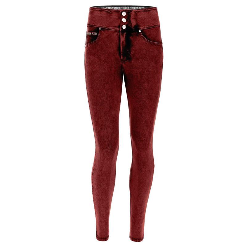 N.O.W.® Pants Denim - Skinny z wysokim stanem - z efektem marmuru - J74B